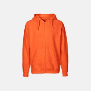 Ekologiska huvtröjor med blixtlås i herr- & dammodell med reklamtryck