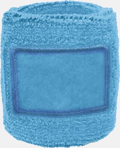 Ljusblå Armsvettband med label att trycka på