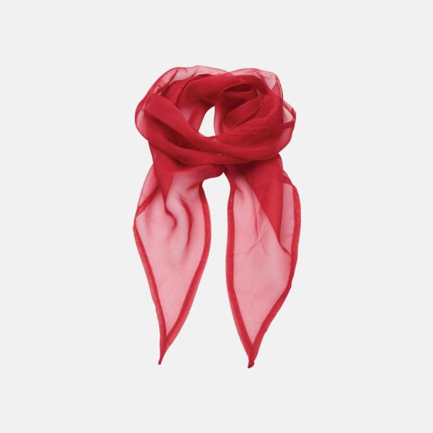 Röd Tunna accessoarscarfs i många färger