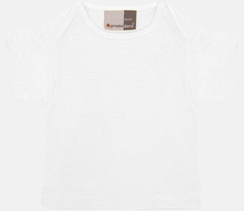 Vit T-shirts för de minsta barnen - med tryck