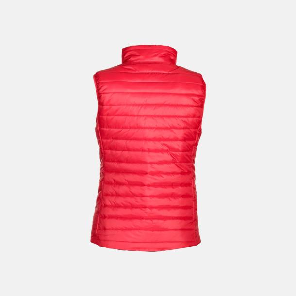 Röd/Carbon rygg (dam) Vadderade lättviktsvästar i herr- och dammodell med reklamtryck
