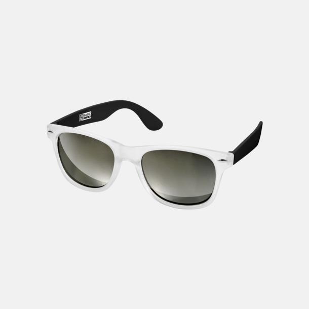 Svart Snygga och säkra solglasögon med färgade linser - med reklamtryck