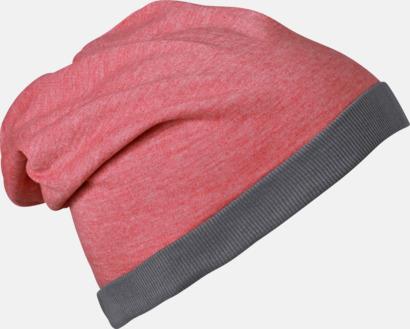 Röd Melange/Mörkgrå Tunna sommarmössor med reklambrodyr