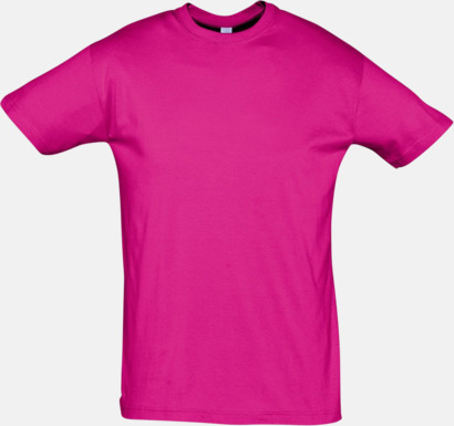 Fuchsia Billiga herr t-shirts i rmånga färger med reklamtryck