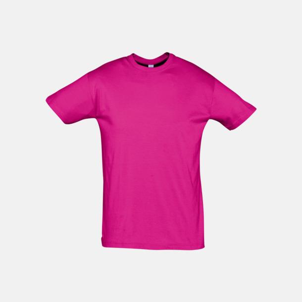Fuchsia Billiga unisex t-shirts i många färger med reklamtryck