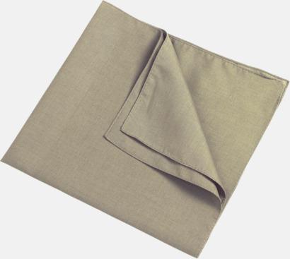 Khaki (scarf) Bandanas i två varianter med reklambrodyr