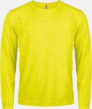 Sport t-shirts med långa ärmar för män - med reklamtryck