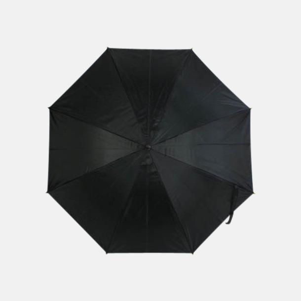 Svarta paraplyer med färgad undersida - med reklamtryck