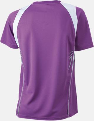 Purple/Vit (rygg) Flerfärgade funktionströjor med eget tryck
