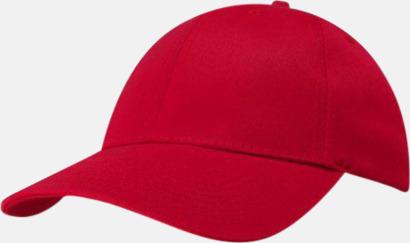 Röd miljövänliga kepsar med reklambrodyr