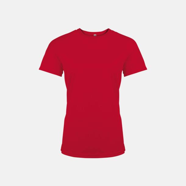 Röd Sport t-shirts i många färger för damer - med reklamtryck