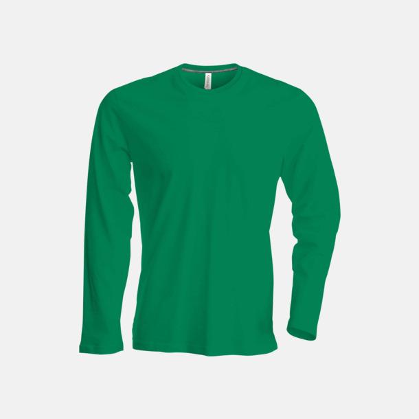 Kelly Green (crewneck, herr) Långärmad t-tröja med rundhals för herr och dam med reklamtryck