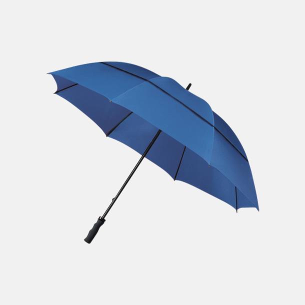 Blå Stormsäkra paraplyer med eget tryck