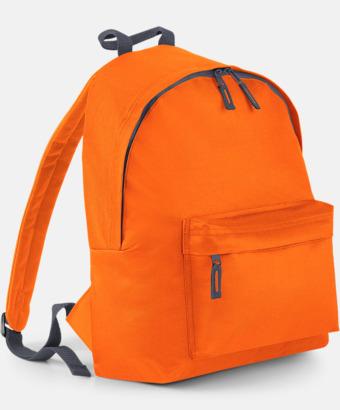 Orange/Graphite Grey Klassisk ryggsäck i 2 storlekar med eget tryck