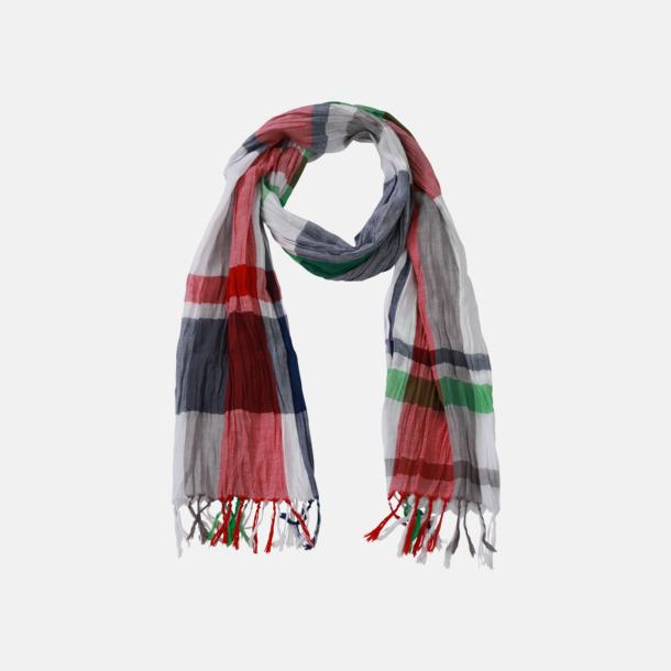 Marinblå/Tomato/Fern Rutiga halsdukar med egen logga