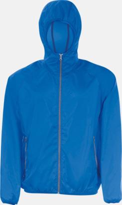 Royal Blue/Marinblå Unisex vindjacka med litet fodral - med reklamtryck