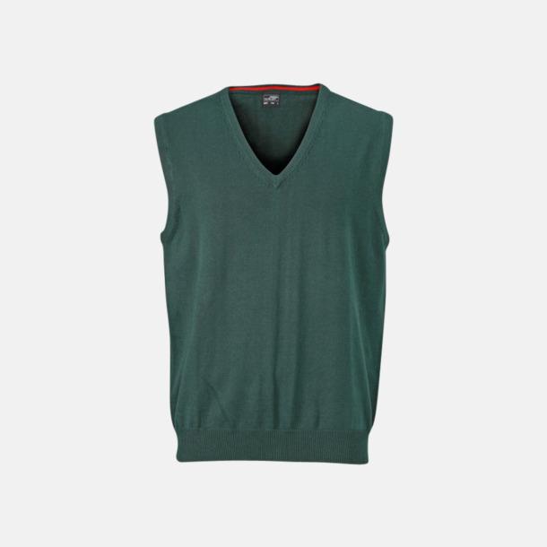 Forest Green V-ringad pullover med eget tryck