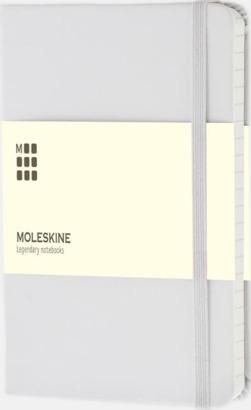 Vit (ruled) Moleskines mindre anteckningsböcker med linjerade eller rutade sidor - med reklamtryck
