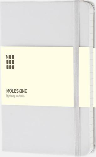 Vit (ruled) Moleskines mindre (ca A6) anteckningsböcker med linjerade eller rutade sidor - med reklamtryck