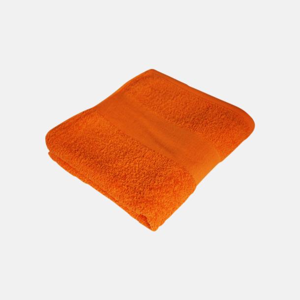 Sunny Orange Billiga handdukshandskar med brodyr