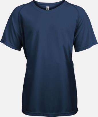 Navy Funktions t-shirts i många färger för barn - med reklamtryck