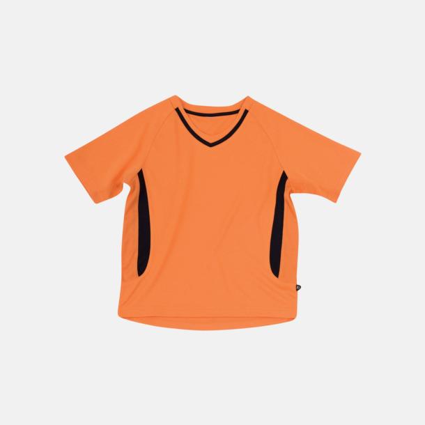 Orange / Svart Snabbtorkande funktionströjor med eget tryck eller bordyr