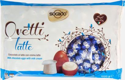 Ovetti Latte Italienska påskpraliner med 3 fyllningar