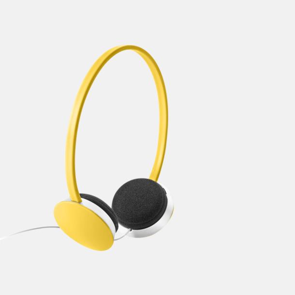 Gul On-ear hörlurar i många färger - med tryck