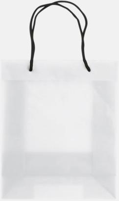 Transparent Vit (medium) Butikskassar i 2 storlekar med reklamtryck