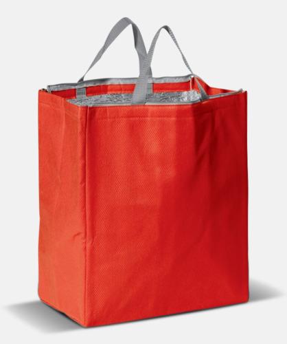 Röd Kylväska i non woven-material med reklamtryck