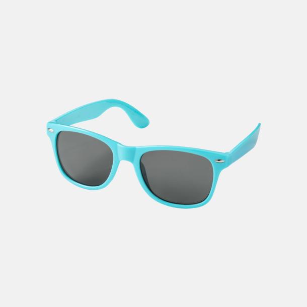 Aqua Blue (PMS 3115C) Trendiga solglasögon med tryck