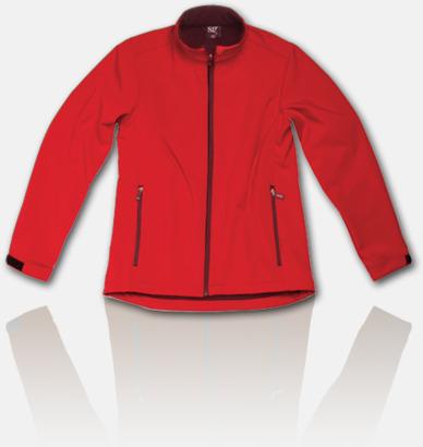 Röd Soft shell-jackor för herr, dam & barn med reklamtryck