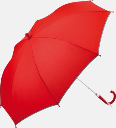 Röd Säkra barnparaplyer med eget tryck