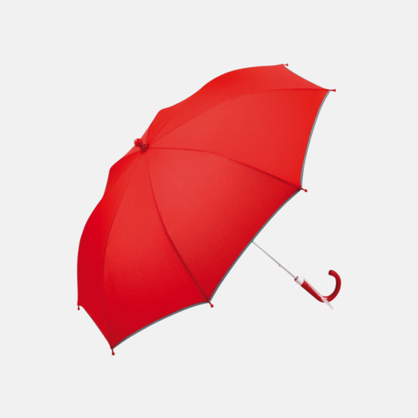 Röd Säkra barnparaplyer med eget reklamtryck