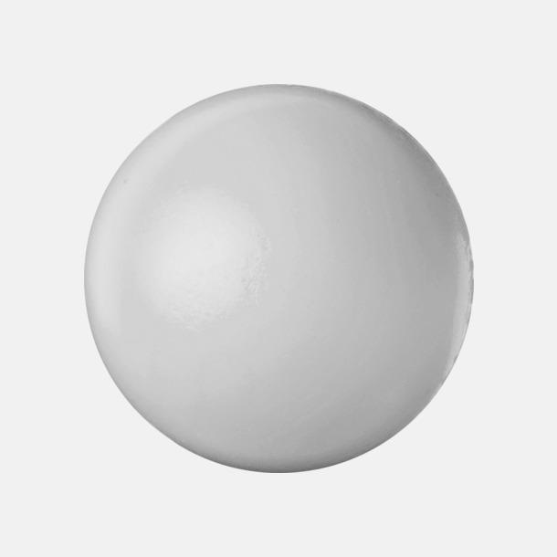 Silver Större stressbollar med reklamtryck