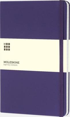 Brilliant Violet (ruled) Moleskines stora anteckningsböcker med linjerade eller rutade sidor - med reklamtryck
