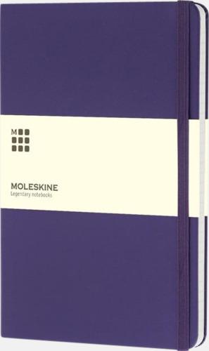 Lila (ruled) Moleskines stora anteckningsböcker (ca A5) med linjerade eller rutade sidor - med reklamtryck