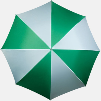 Grön / Vit Golfparaplyer med ergonomiska trähandtag