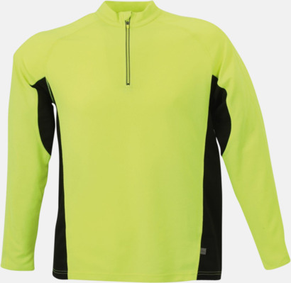 Fluorescerande Gul/Svart Träningskläder med eget tryck