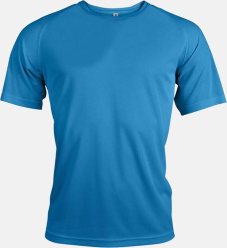 Aqua Blue Sport t-shirts i många färger för herrar - med reklamtryck
