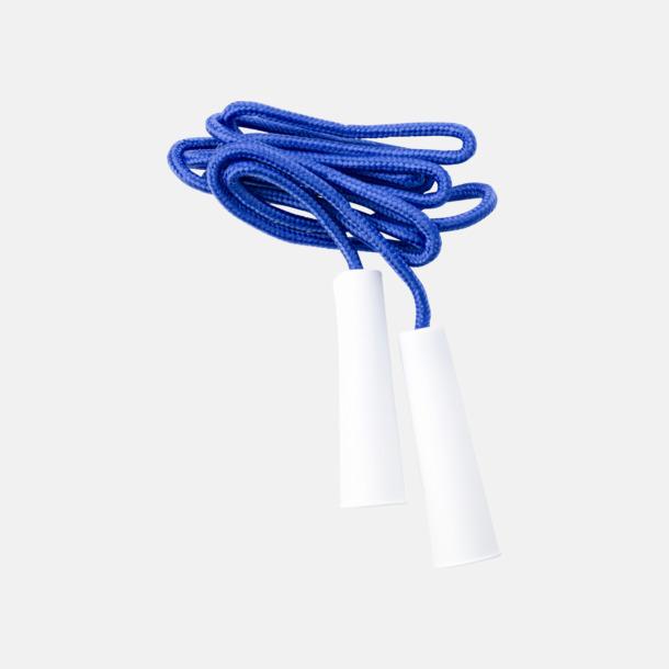Blå / Vit Klassiska hopprep med eget tryck