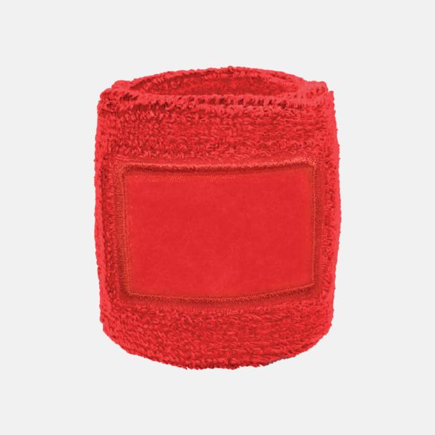 Röd Armsvettband med label att trycka på