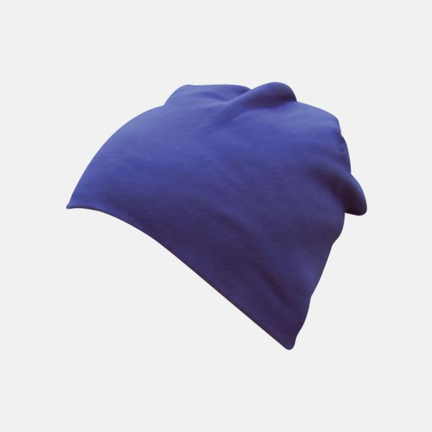 Marinblå Stretchiga bomullsmössor med reklamtryck