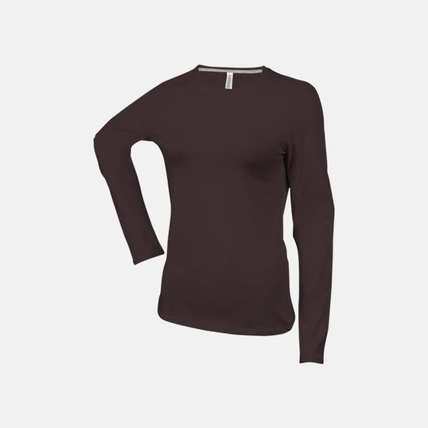 Chocolate (crewneck, dam) Långärmad t-tröja med rundhals för herr och dam med reklamtryck