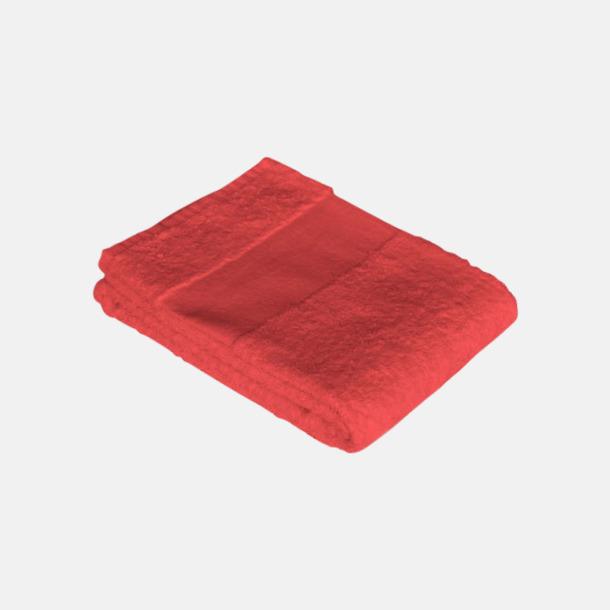 Poppy Red Billiga handdukshandskar med brodyr