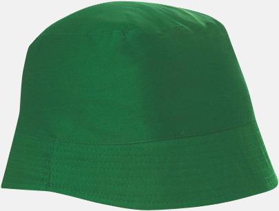 Grön Bomullshattar i enfärgade- och tvåfärgade varianter med reklamtryck