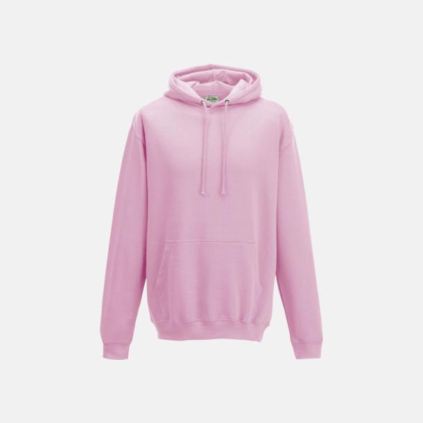 Baby Pink Billiga collegetröjor i unisexmodell - med tryck