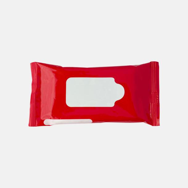 Röd Box med 10 pre-fuktade näsdukar - med reklamtryck