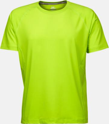 Bright Lime (herr) Funktions t-shirts i herr- & dammodell med reklamtryck