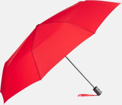 Röd eko-kompaktparaplyer med reklamtryck